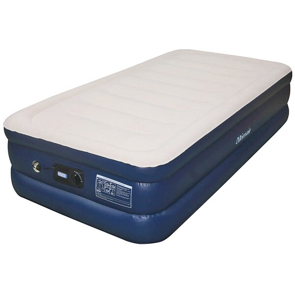 Coleman Quickbed Queen Raised Air Bed With Battery Pump