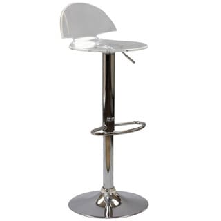 Somette Acrylic Pneumatic Gas Lift Adjustable Swivel Stool