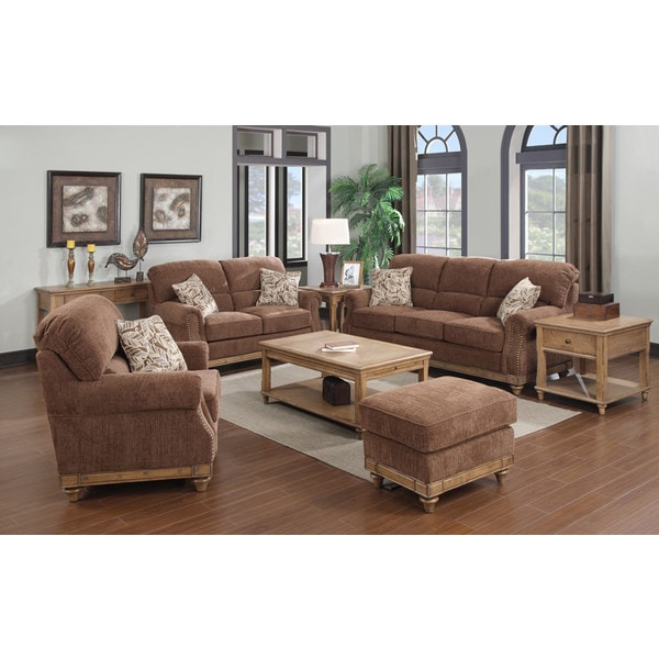 Overstock Living Room Sets: Emerald Grand Rapids 4-piece Living Room Set