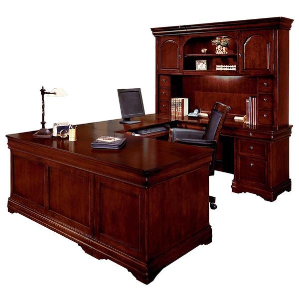 Overstock Office Furniture: DMI Furniture Rue De Lyon Executive Overhead Hutch U-desk