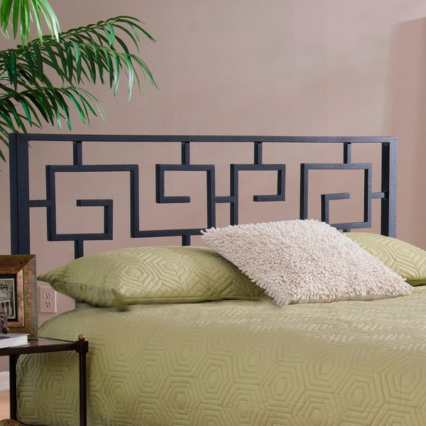 Black Greek Key Metal Headboard 15945309 Overstock Com