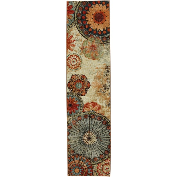 Mohawk Home Caravan Medallion Multi Nylon Rug (2' X 8