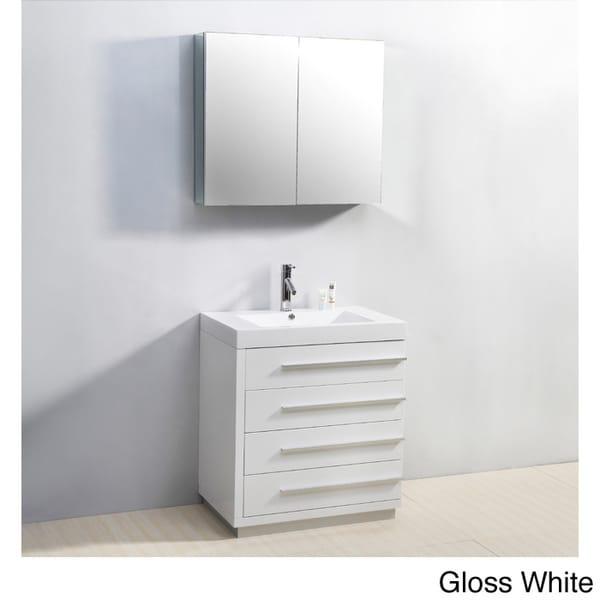 Virtu usa bailey 30 inch single sink bathroom vanity set - 30 inch single sink bathroom vanity ...