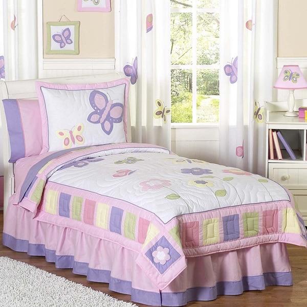 Sweet Jojo Designs Girls Butterfly 3 Piece Full Queen