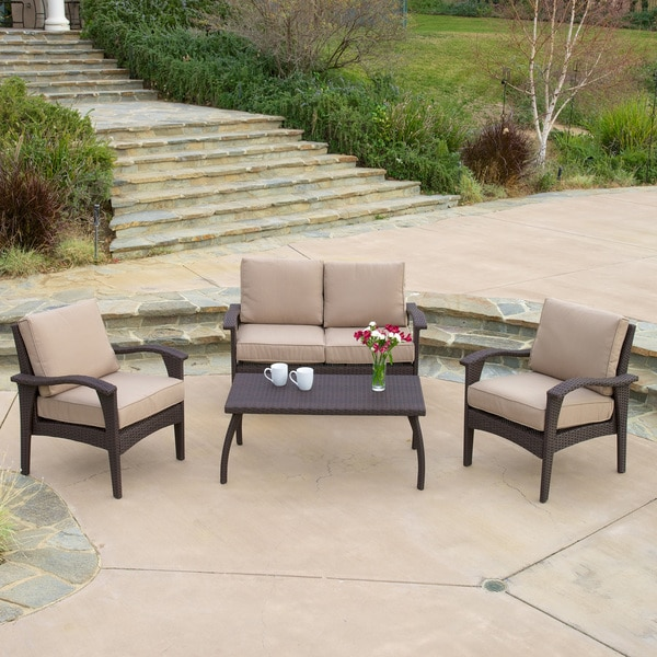christopher knight home honolulu outdoor 4 piece brown best deals on sofas toronto best deals on sofas in uk