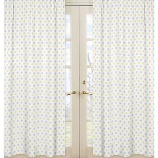 Sweet Jojo Designs Gray Yellow And White 84 Inch Window