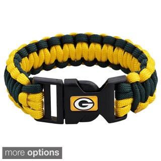 Nfl Football Sports Team Logo Gamewear Leather Bracelet