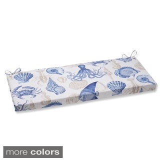 Pillow Perfect Splish Splash Outdoor Wicker Loveseat