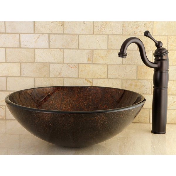 Amber Bronze Vessel Bathroom Sink 15997668 Overstock