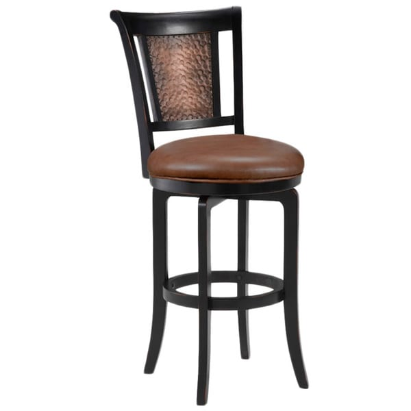Cecily Black Honey And Hammered Copper Stool 16000433