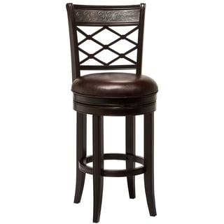 Bergamo Cherry Dark Brown Swivel Stool 15992368