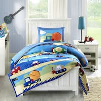 Mi Zone Kids Truck Zone Pattern Mini Comforter Set