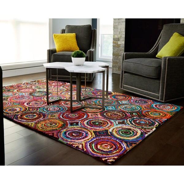 Jani Tangi Multi Colored Circles Pattern Recycled Cotton