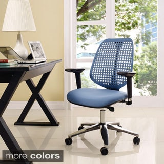 Vinnie White Chrome Office Chair 14071471 Overstock