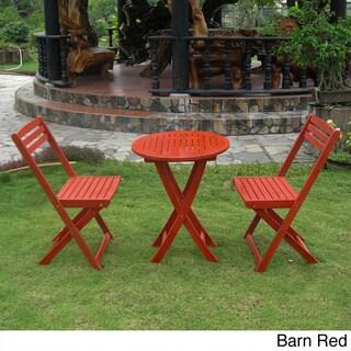 Incredible Sale International Caravan Acacia Hardwood 3 Piece Bralicious Painted Fabric Chair Ideas Braliciousco