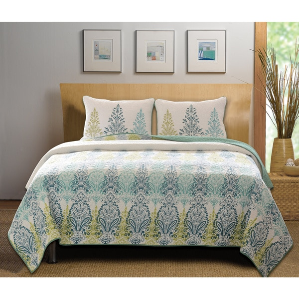 Greenland Home Fashions Bombay Cotton 3-piece Quilt Set