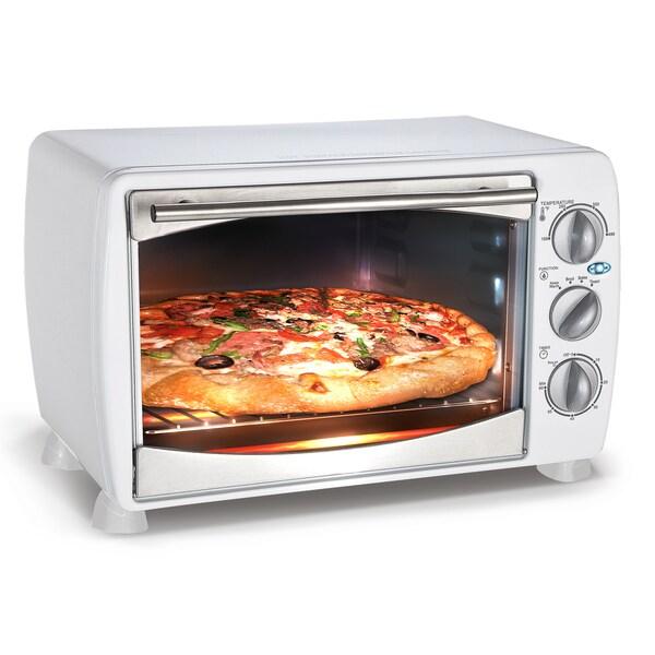 White 1200 Watt Countertop Toaster Oven Broiler 16027314