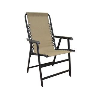 Caravan Sports Beige Suspension Folding Chair