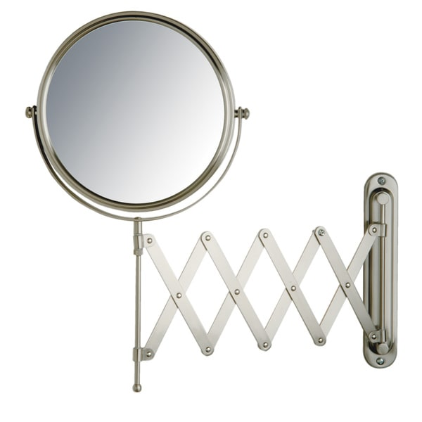 Jerdon 8 Inch Two Sided 7x Wall Mount Mirror In Nickel