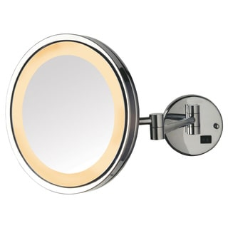 Jerdon 9 5 Inch 5x Led Lighted Wall Mount Mirror In Chrome