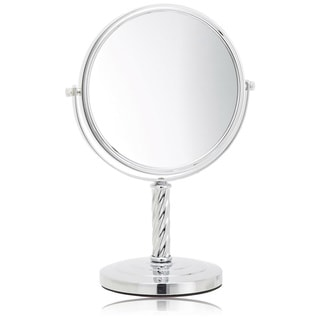 Jerdon 8 Inch Two Sided 5x Table Top Mirror In Chrome