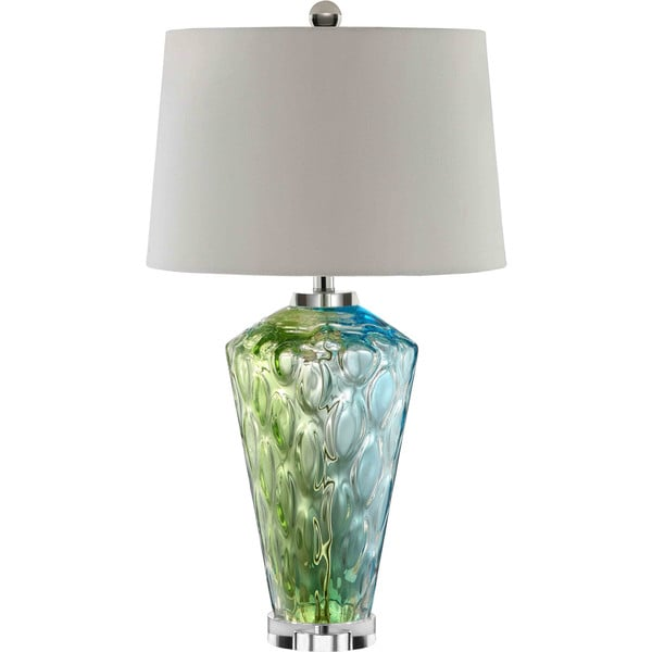 Sheffield Glass 1 Light Blue Green Table Lamp 16048961