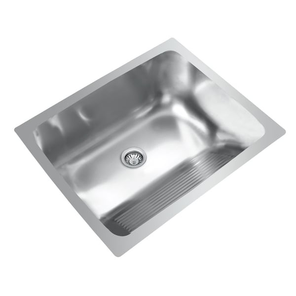 Ukinox D610 457 Single Basin Stainless Steel Dual Mount