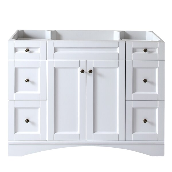 Virtu usa elise 48 inch white single sink cabinet only - 48 inch white bathroom vanity with top ...
