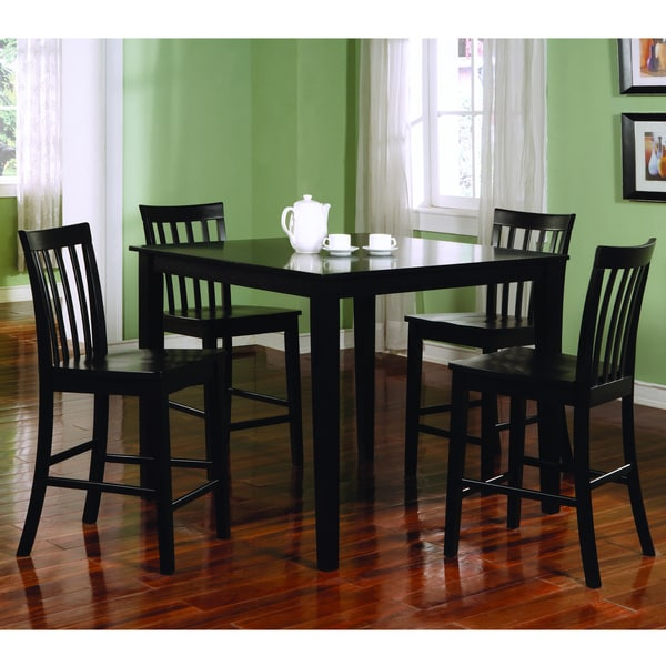Dining Room Sets Black: Ashland Black Counter Height 5-piece Dining Set