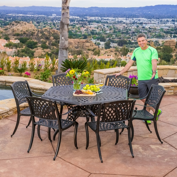 Patio Furniture Hallandale Fl: Christopher Knight Home Hallandale Newcastle 7-piece Cast
