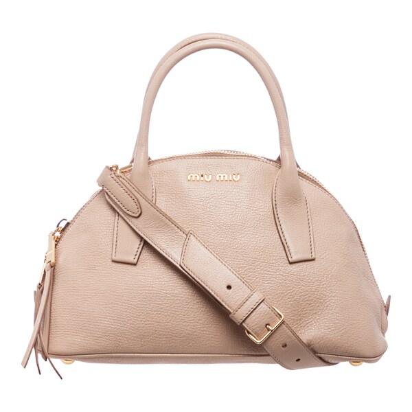 9c8ae464aa8d Miu Miu  u0026 39 Madras u0026 39  Nude Textured Leather
