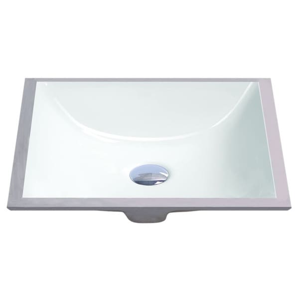Geyser White Vitreous Porcelain Undermount Bathroom Sink