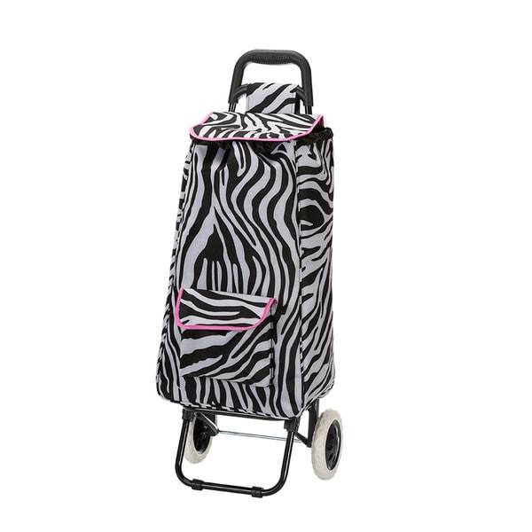 Eco Friendly Pink Zebra Easy Rolling Lightweight