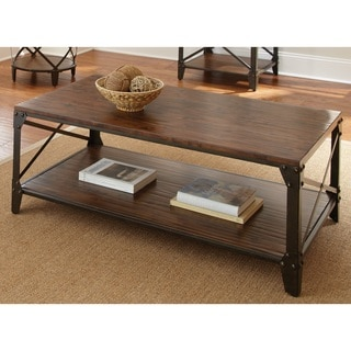 Slate Glass Steel Coffee Table 10751194 Overstock Com Shopping Great Deals On I Love