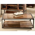 Emerald Home  Laramie Reclaimed-Look Wood Cocktail Table With Casters