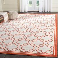 Safavieh Amherst Indoor/ Outdoor Ivory/ Orange Rug - 8' x 10'