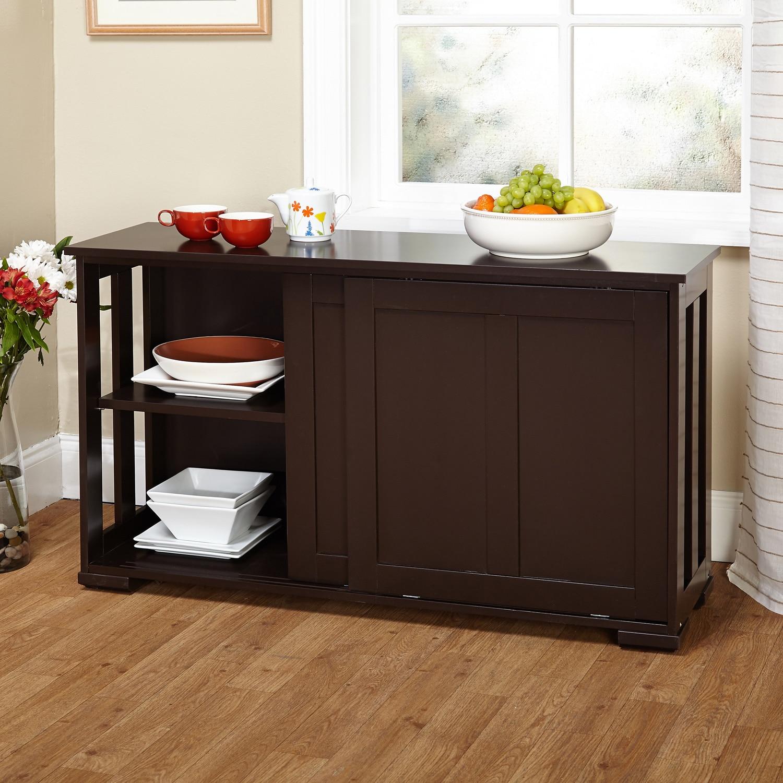 Sliding Door Kitchen Cabinets: Simple Living Sliding Door Stackable Cabinet