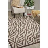 Waverly Sun N' Shade Centro Flint Indoor/ Outdoor Rug by Nourison - 10' x 13'