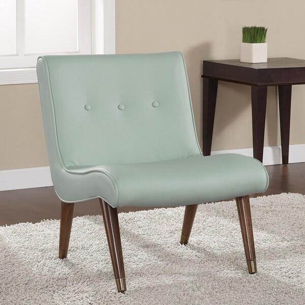 Mid Century Aqua Bonded Armless Chair 16081230