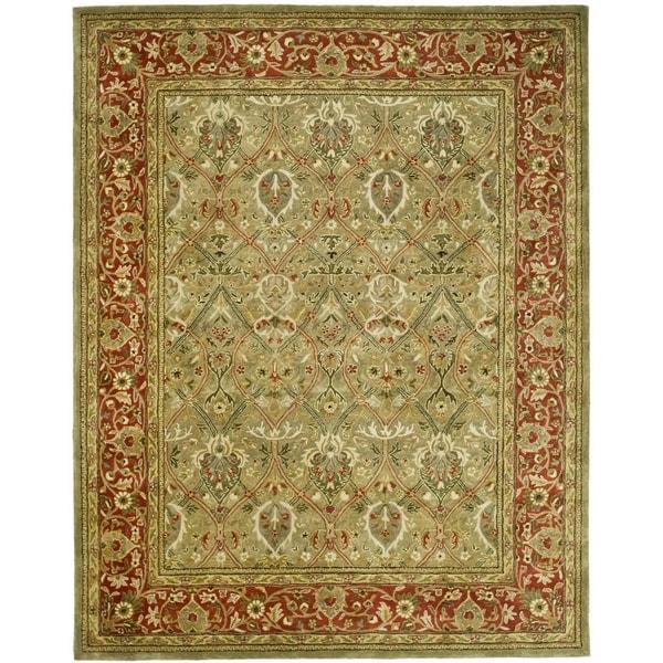 Safavieh Pl537b Persian Legend Wool Hand Tufted Navy Rust: Safavieh Handmade Persian Legend Light Green/ Rust New