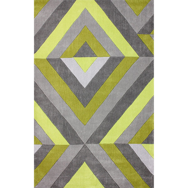 Nuloom Hand Tufted Modern 3d Chartreuse Rug 5 X 8