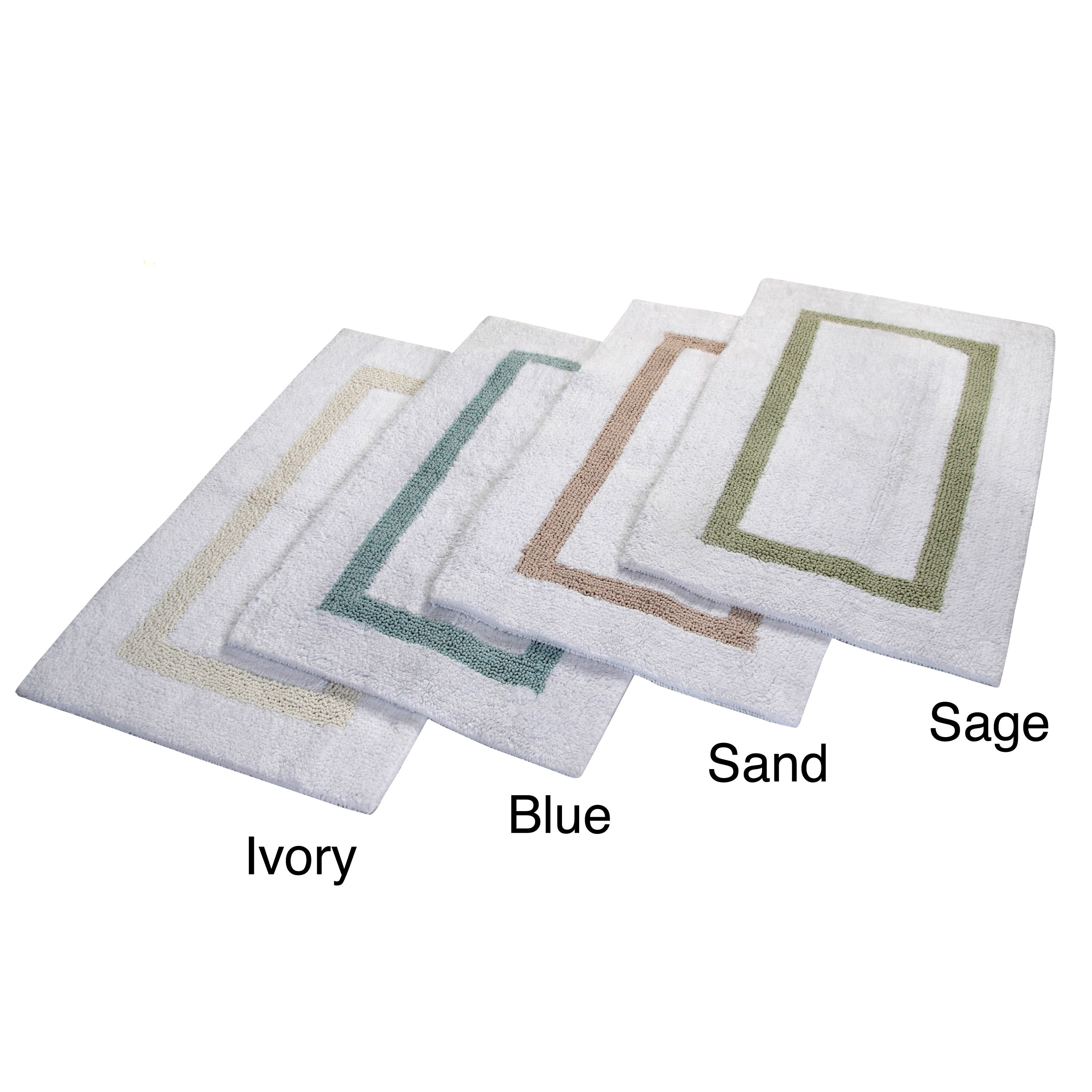 Hotel Collection Bath Mats: Hotel Collection Cotton Reversible Luxury Bath Rug