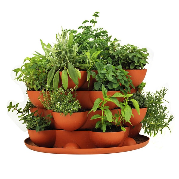 Stack Amp Grow Stackable Terracotta Garden Planter