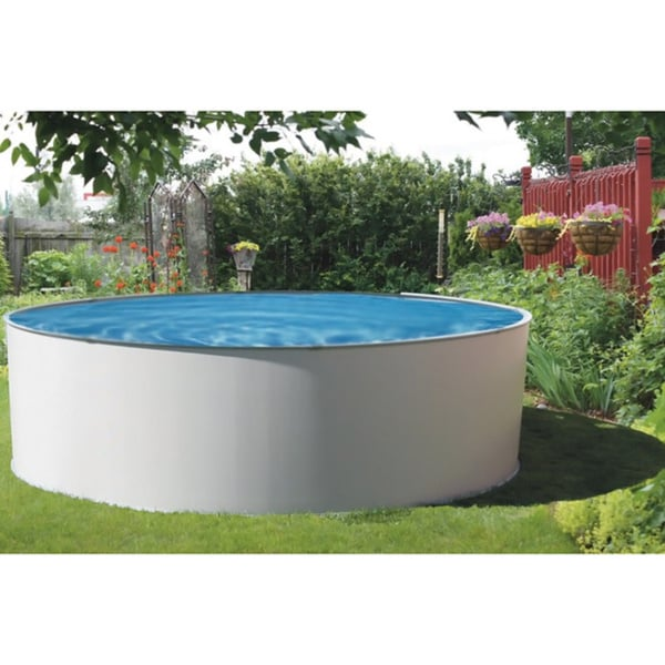 Presto Round 52 Inch Deep Metal Wall Swimming Pool Package