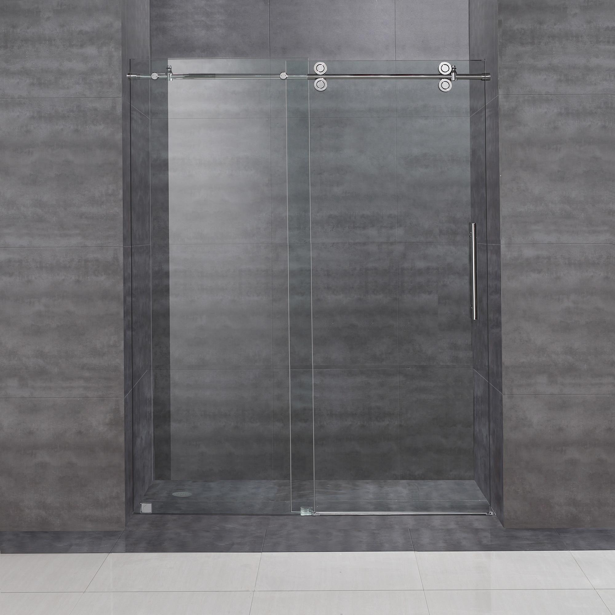 Aston Frameless Sliding Shower Door 60 X 75 Overstock