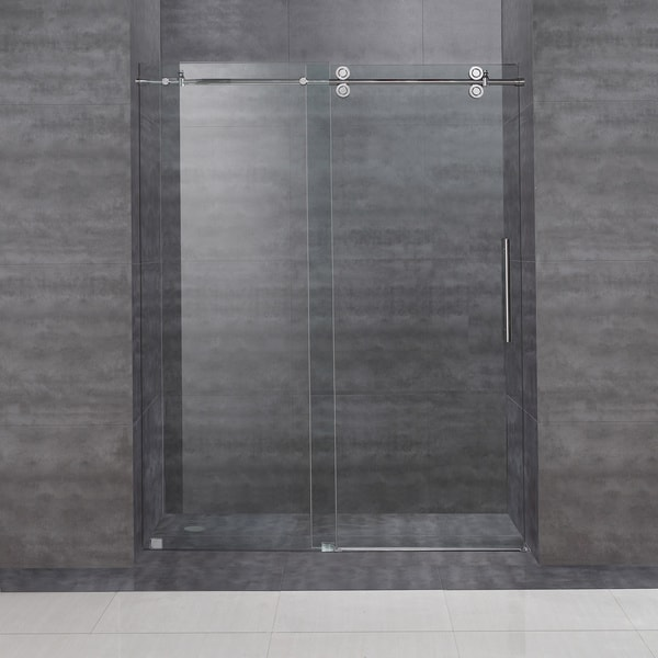 Aston Frameless Sliding Shower Door 60 X 75