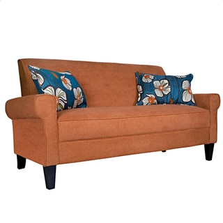 Wondrous Sale Portfolio Xandra Orange Rust Velvet Sofa Yy3Mnbngg Ocoug Best Dining Table And Chair Ideas Images Ocougorg
