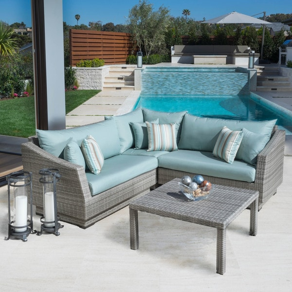 Rst Brands Cannes 4 Piece Patio Corner Sectional