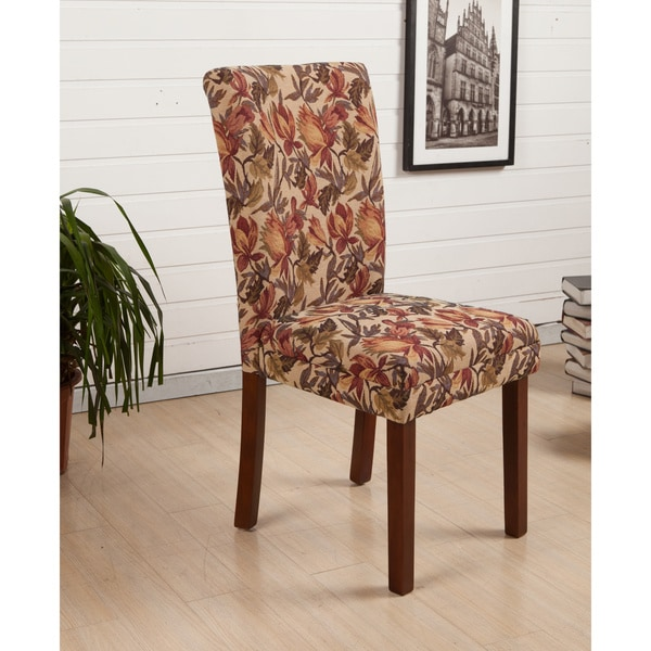 Floral Dining Room Chairs: HLW Arbonni Modern Parson Tulip Floral Dining Chairs (Set
