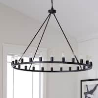 The Gray Barn Hemsworth Oil Rubbed Bronze 24-light Chandelier